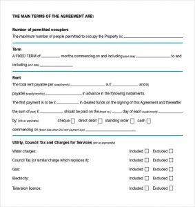 Simple Room Rental Agreement Form Free Assured Shorthold Tenancy Agreement  Pdf Template Download