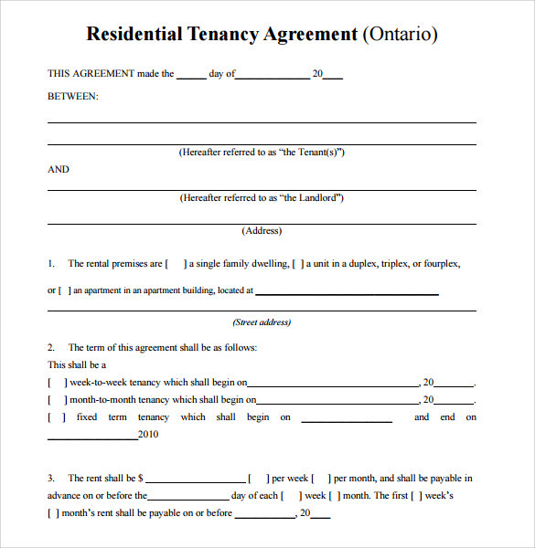 Simple Lease Agreement Texas Idealstalist