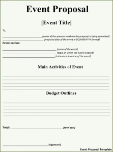 simple sublease agreement event proposal template