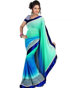 simple thank you note simple sarees green chiffon saree sdl af