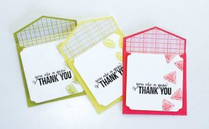 simple thank you note stamped thank you cards