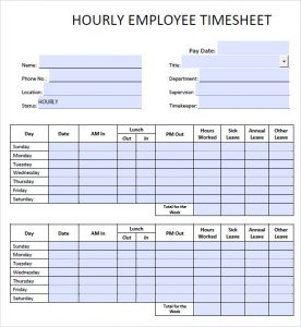 simple timesheet template hourly timesheet template