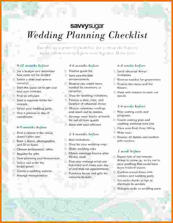 simple wedding checklist