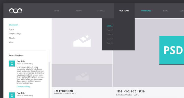 single page web templates