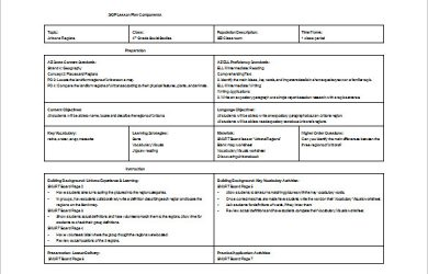 siop lesson plan siop lesson plan components word free download