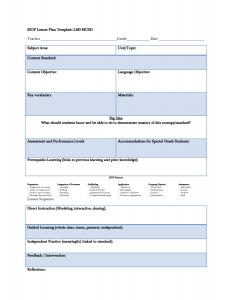 siop lesson plan siop lesson plan template abtteg