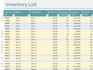 small business inventory spreadsheet template inventory list