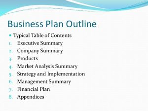 small business plan outline business plan writing power point