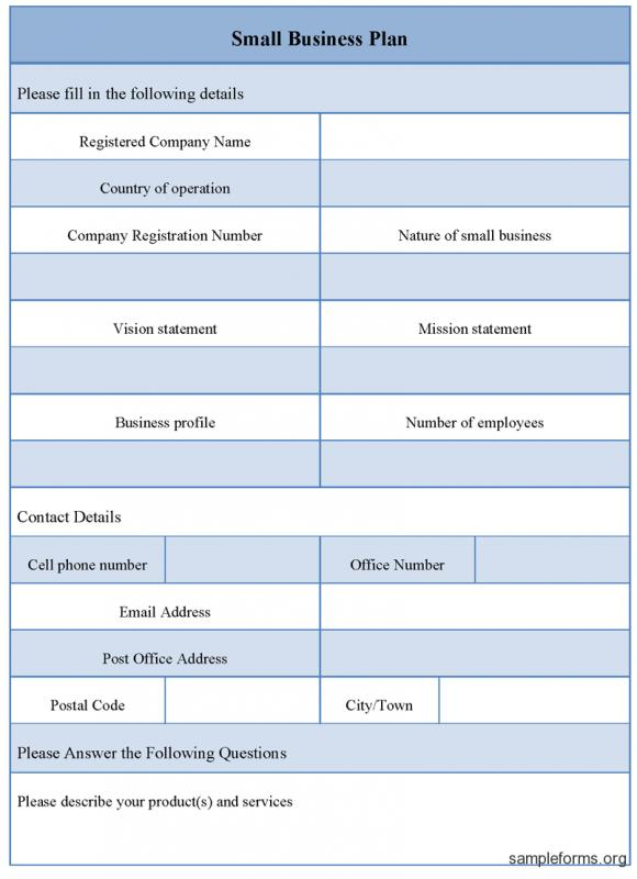 small business plan template template business