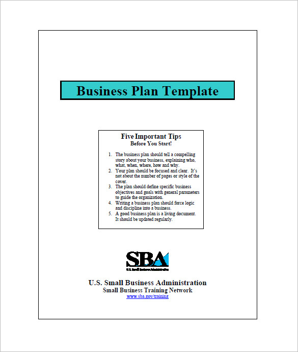 Small Business Plan Template Template Business - Business plan template for small business