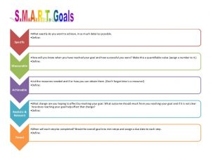 smart goals template slide 1 728