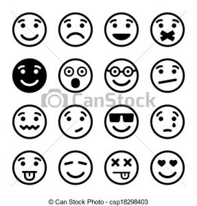 smiley face icon can stock photo csp