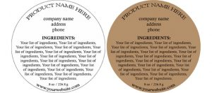 soap label template ingredientlabelno