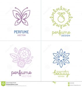 soap label template vector set perfume cosmetics logo design templates icons natural organic concepts