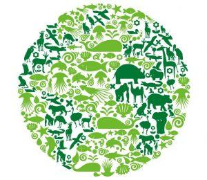 social media business card blue planet green earth concept illustration vector