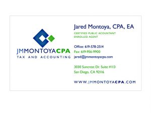 social media business card tax accountant business cards