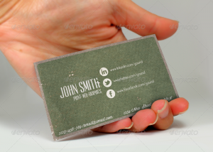 social media cards vintage social network business card