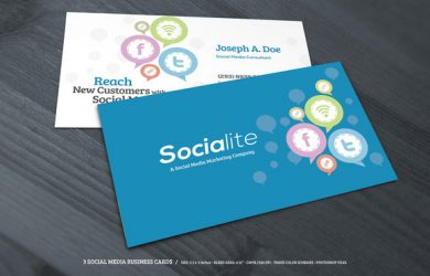 social media cards preview creative market social media business cards f