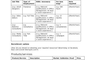 social media marketing plan sample business plan template for startups