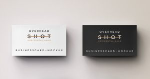 social media on business cards business card mockup overhead shot psd