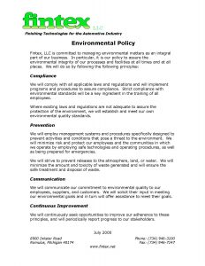 social media policies template environmental policy statement