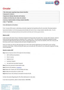 social media policies template information regarding unique student identifier