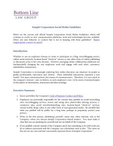 social media policies template social media policy template and resources