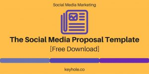 social media proposal header social media proposal template