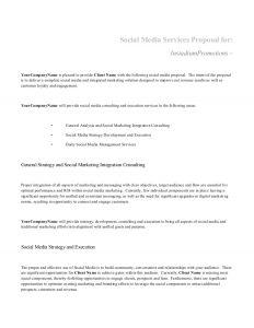 social media proposal social media proposal