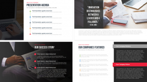 social media report templates company profile free powerpoint template