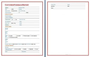 social media reports template customer feedback report template