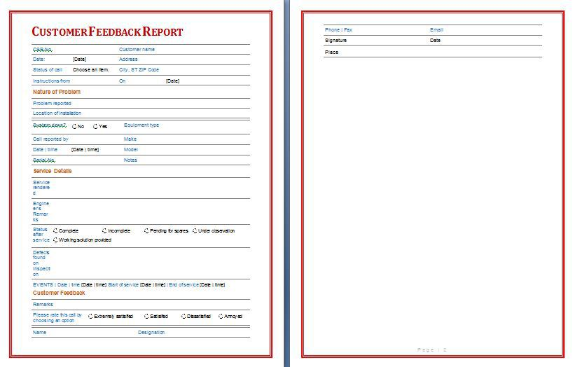 social media reports template
