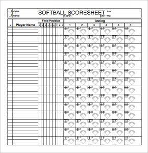 softball score sheet simple softball score sheet pdf
