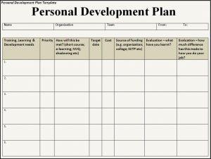 software developement plan personal development plan template