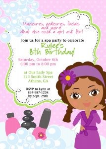 spa party invitations il fullxfull tuf
