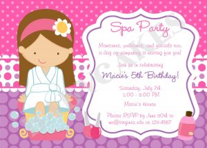 spa party invitations il fullxfull la