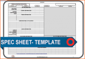 spec sheet template spec sheet template