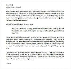 sponsorship letter template sample sponsorship letter for donations template word format