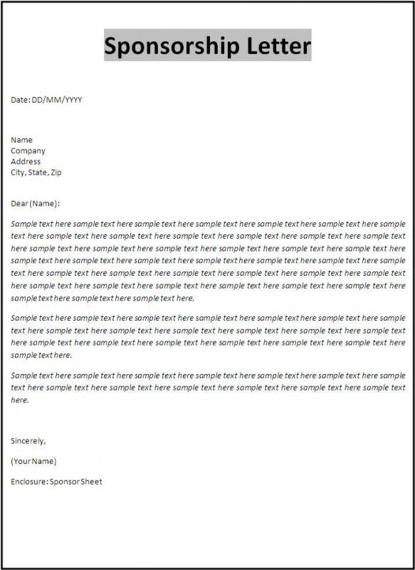 sponsorship letter template