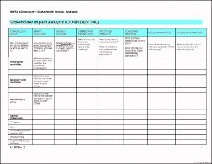 stakeholder analysis template stakeholder analysis template ppt