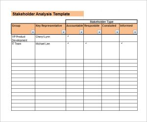 stakeholder analysis template stakeholder analysis tools template