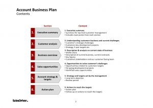 stakeholders analysis template salesdriver account business plan