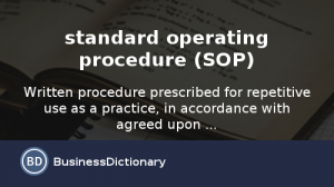 standard operating procedures examples standard operating procedure sop