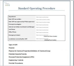 standard operating procedures template sop templates