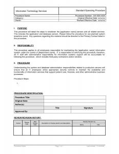 standard operating procedures template standard operating procedures template mtandsd