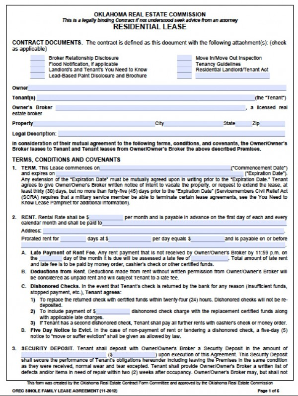 Standard Rental Application  Template Business
