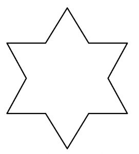 star shape template ategaat