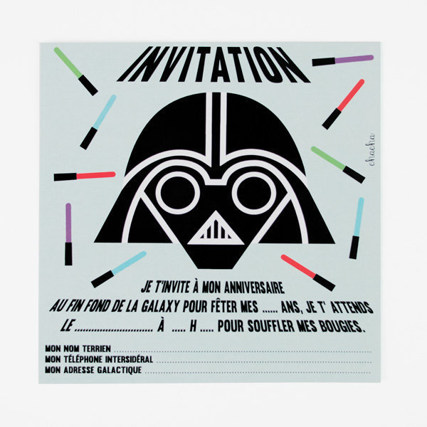 star war invitations