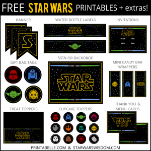star war invitations free star wars printables extras