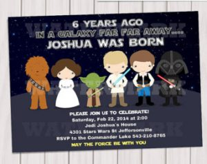star war invitations il x o